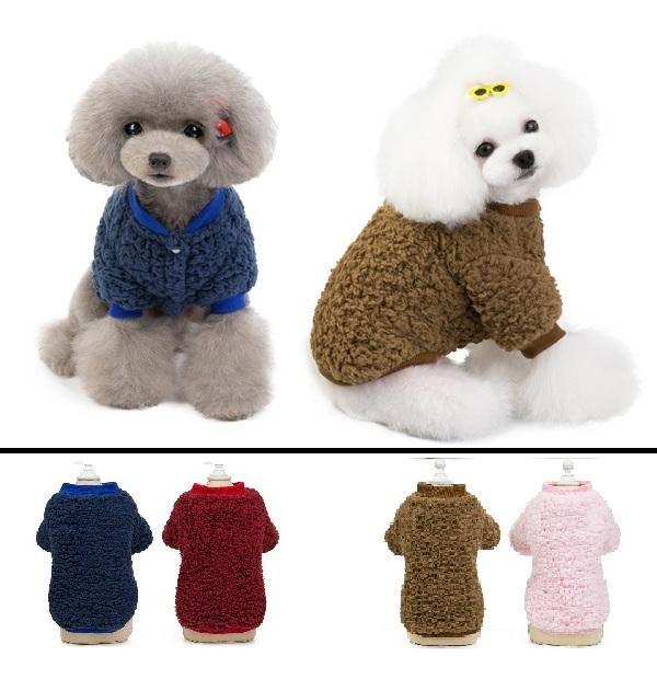 1 PCS fino y elegante otoño y el invierno espesado de dos patas de lana de ropa para mascotas el color de varias mascotas ropa del gato de perro Pet Supplies