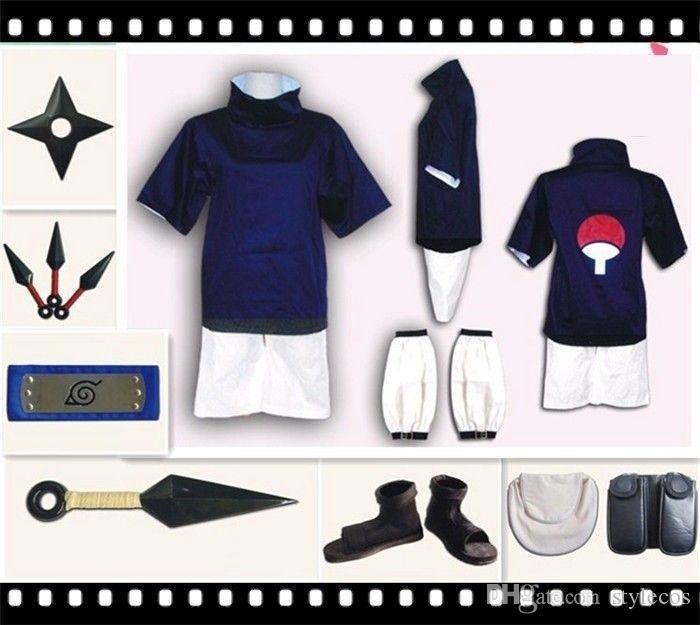 Naruto Uchiha Sasuke Full Set Cosplay Costume