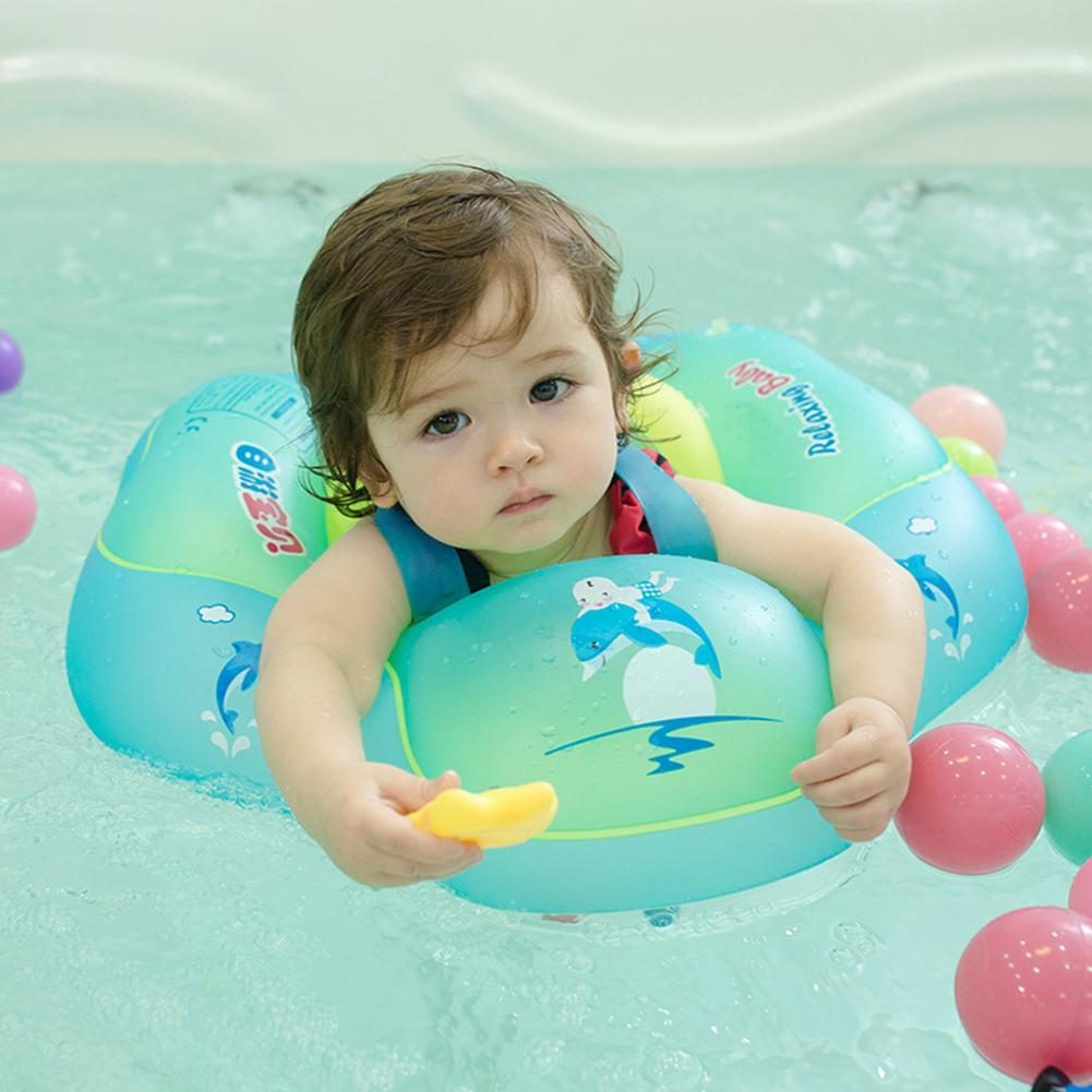 GloryStar Inflatableswimming ring Baby Inflatable Swimming Ring PVC Lying Water Toy PVC With safety belt and chest pad