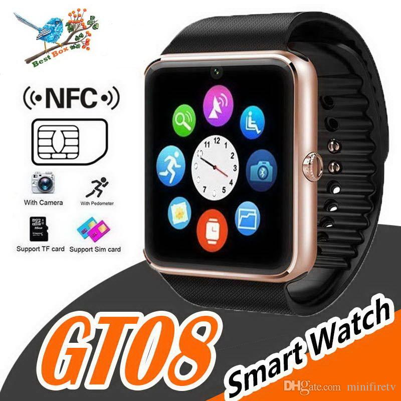 Touch Screen Smart Watch gt08 With Camera Bluetooth WristWatch Support SIM Card Smartwatch For Ios Android Phones Multi language