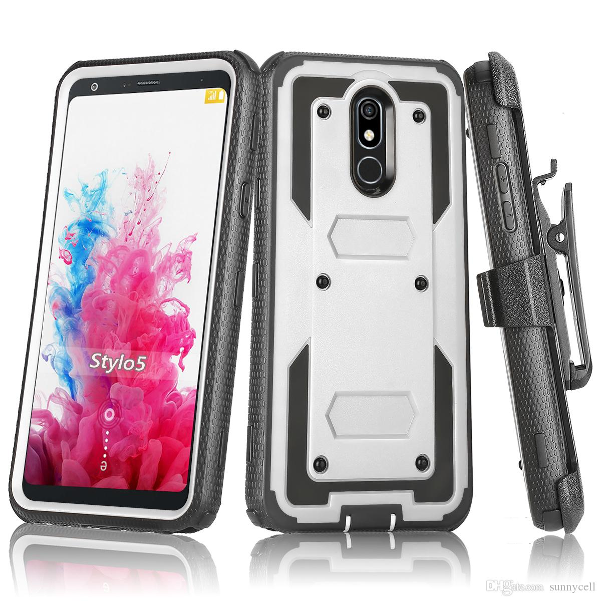 For Motorola E7 E6 Z4 G7 Play Plus Heavy Duty Shockproof Holster swivel Belt Clip Rotatable Kickstand Defender Phone Case Cover
