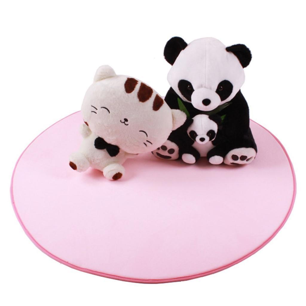 Plush 100cm Kids Bedroom Floor Game Cushion Tent Carpet Mat Toy Pink Round