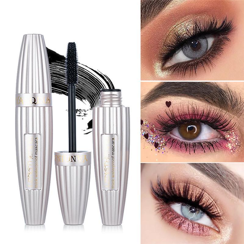 2019 бренда New 4D Eye Продолжительный макияжа тушь для ресниц Черная тушь для ресниц Водонепроницаемый наращивание ресниц Косметические инструмент Горячие моды красоты
