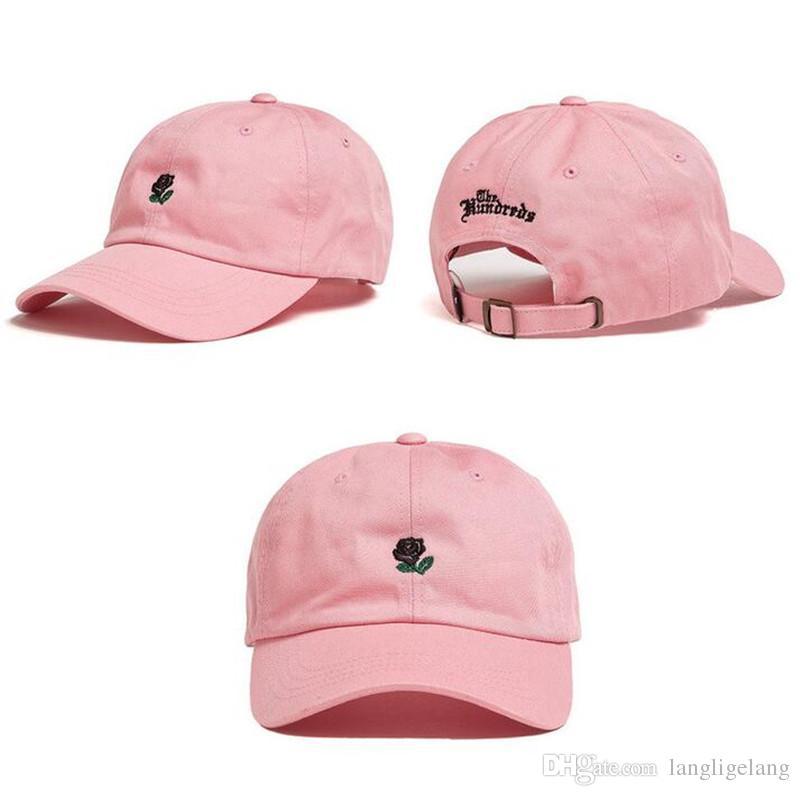 Оптовая продажа роз с вышивкой Snapback Caps Эксклюзивный индивидуальный дизайн брендов Мужчины Женщины Cap Регулируемая Гольф Бейсболка 100% Хлопок Шляпы