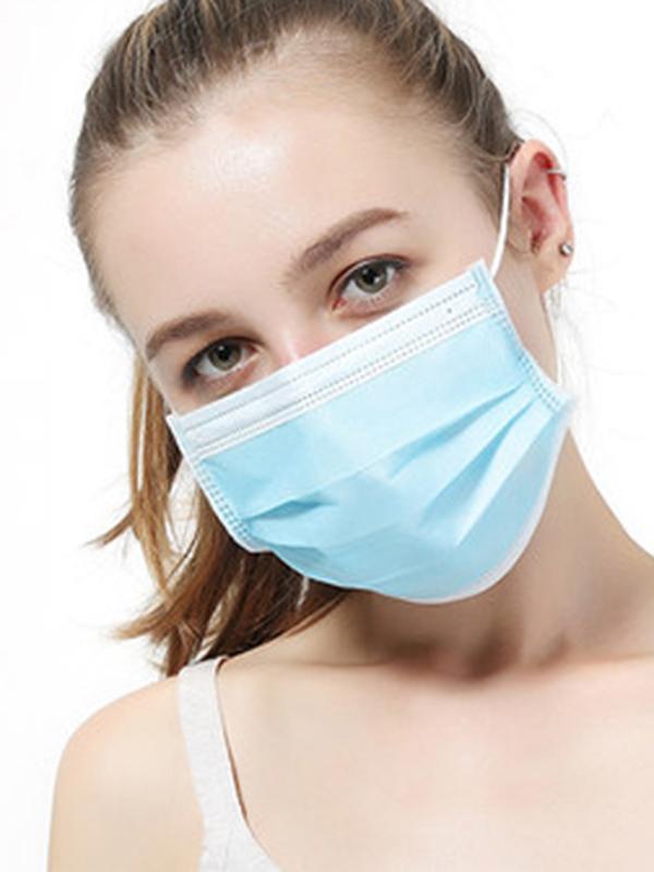 Vendita calda Maschera monouso Maschera Viso Bocca 3-Ply Anti-Haze prova della polvere Earloop mascherina mascherine Prodotti di protezione anti-nebbia