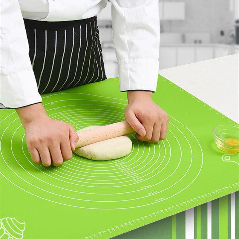 50 * 40cm Silikon-Teig knetet Mat Maßstab Non-Stick-Küche-Werkzeug-Kuchen-Brett Große weiche hohe Temperatur Dough Pad-Küche-Werkzeug