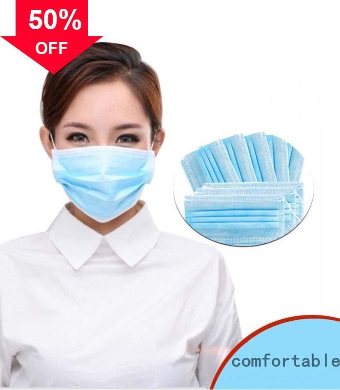 GoHp8 masques du visage gros visage contre le cuir à usage unique non-tissé masque perméables à l'air sain empêchent l'expédition de DHL gratuit