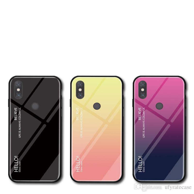حافظة صلبة متدرجة اللون لهواتف شاومي مي مكس 3 2S 2 Max 3 2 8 8 SE 8Lite pocoF1 6X 5X