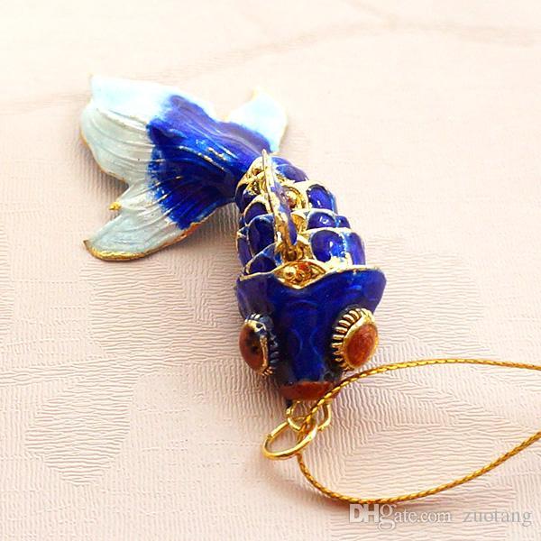 3 Tamanho Verdadeiro para a vida Esmalte Balanço Fish Pingente Chaveiro Presentes bonitos para as mulheres Homens Animal Goldfish Goldfish Chaveiro Com Caixa
