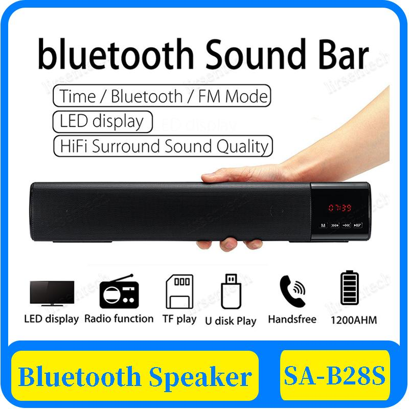 Inicio 30x PC TV del bluetooth altavoces barra de sonido portátil de altavoces subwoofer inalámbrico 3D Surround de alta fidelidad de la ayuda FM Radio reloj USB TF