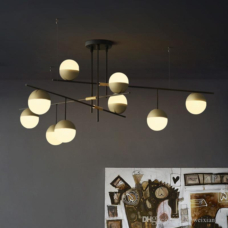 북유럽 현대 샹들리에는 거실 침실 전등 설비를 조명 LED 램프 E27 산업 천장 샹들리에 조명