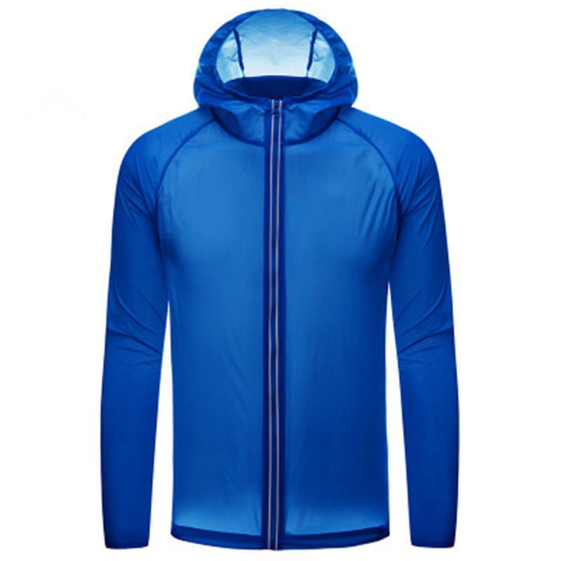 protection solaire hommes vêtements unisexe extérieur Plage protection de camping modèles peau vêtements d'été bleu mince de Dryin rapide de noir