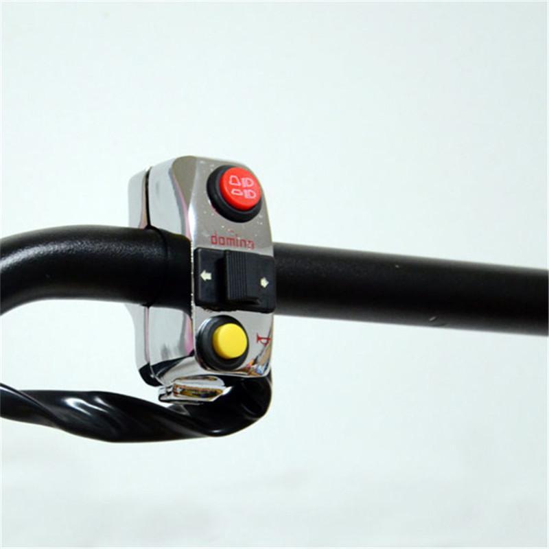 bar 22MM moto passa cromo corno universale lampeggiatore faro luce interruttore regolatore motociclo controllo moto argento