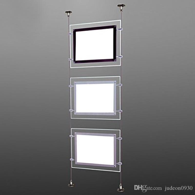(5nits / Pack) Fenêtre Office immobilier de l'immobilier A3 Cadre d'affiche acrylique suspendu, affichage de l'agent immobilier