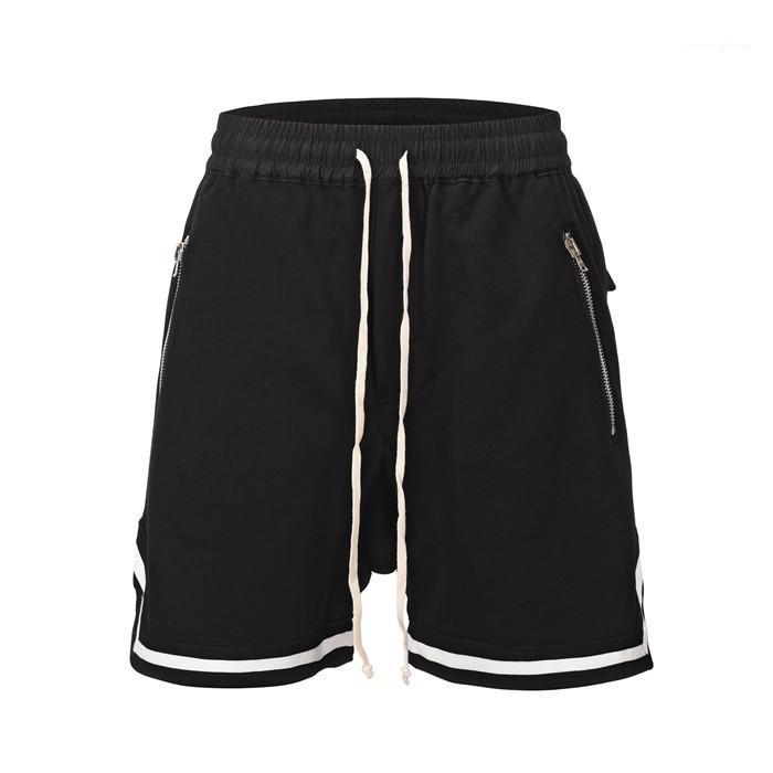 TTrend Hip Hop Belt Metade Casual Joelho curto Mens solto Designer de Fitness Shorts de Verão