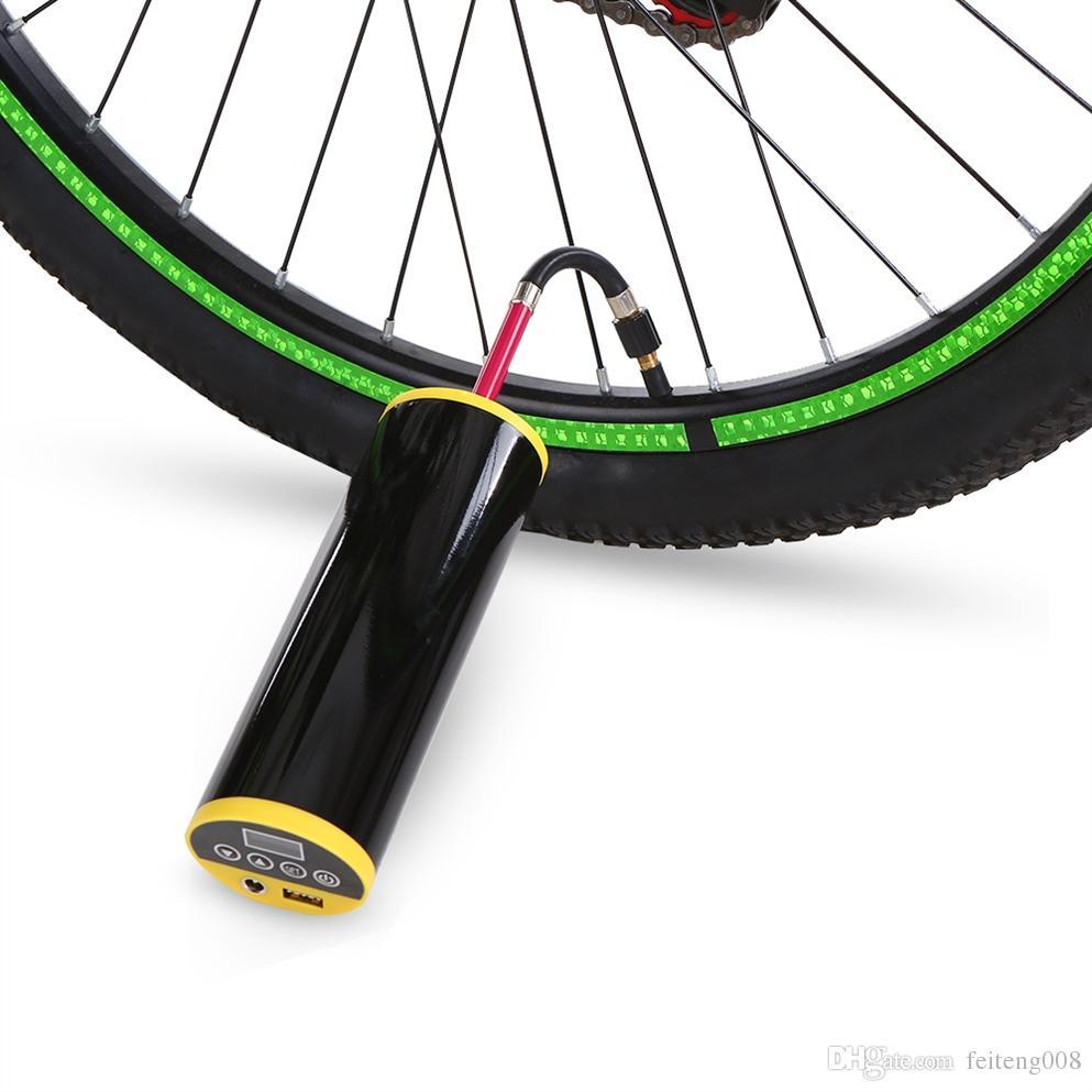 150PSI Bike Inflator Pump Power Bank with LCD Screen for Bike Car MTB Road Bike