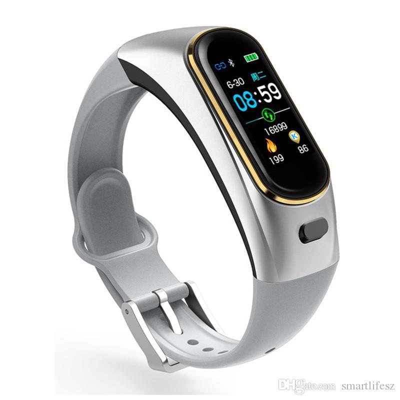 H109 الذكية سوار الاتصال الهاتفي دعوة بلوتوث سماعات لاسلكية سماعات OLED معدل ضربات القلب ضغط الدم الأكسجين اللياقة البدنية الفرقة تعقب