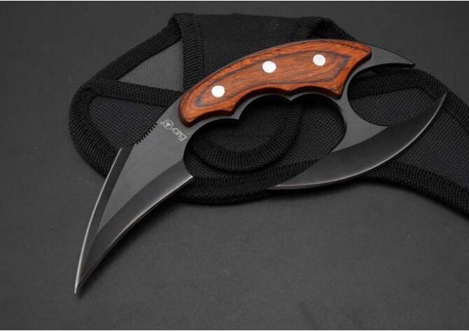"""Fury7"""" acier griffe tactique karambit griffe camping pliage couteaux couteau de survie cadeau de Noël A1337 A1pa"""