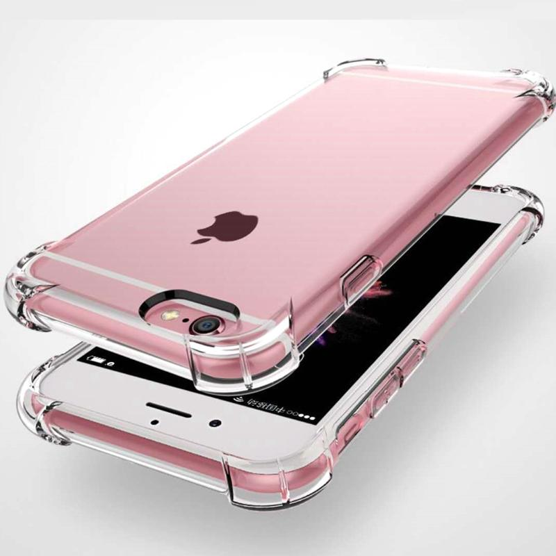 For Iphone 11 pro x xr XS max 8 7 6 plus case Transparent Clear Shockproof Silicone Slim TPU Cover air bag cushion