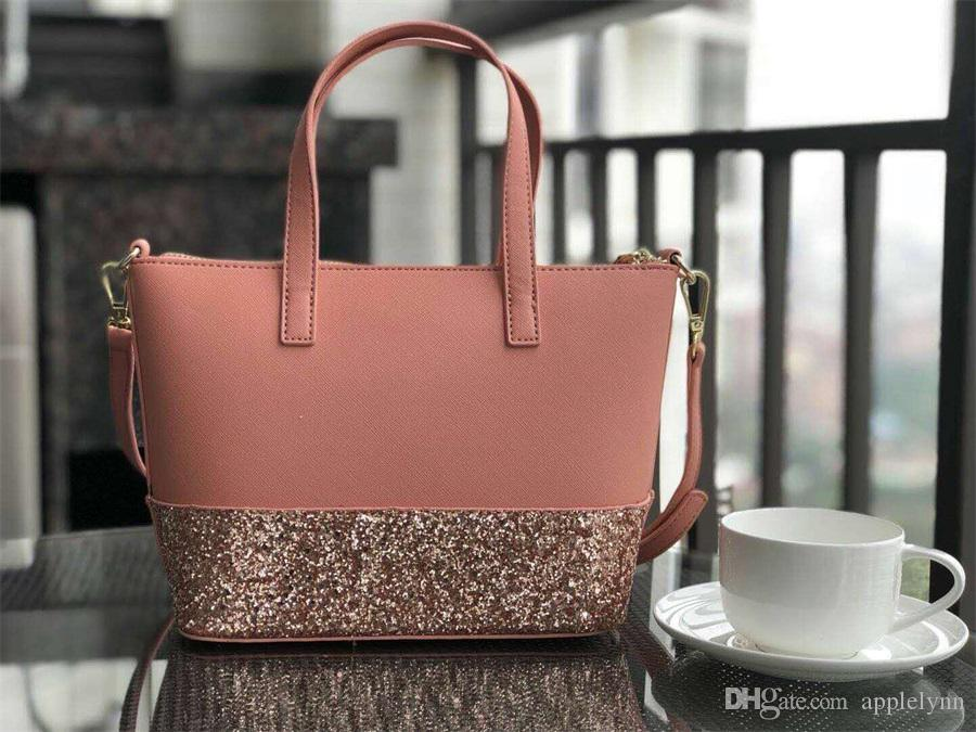 new brand designer glitter shining crossbody bags handbags Shoulder bag 3 colors small size pu patchwork purse totes