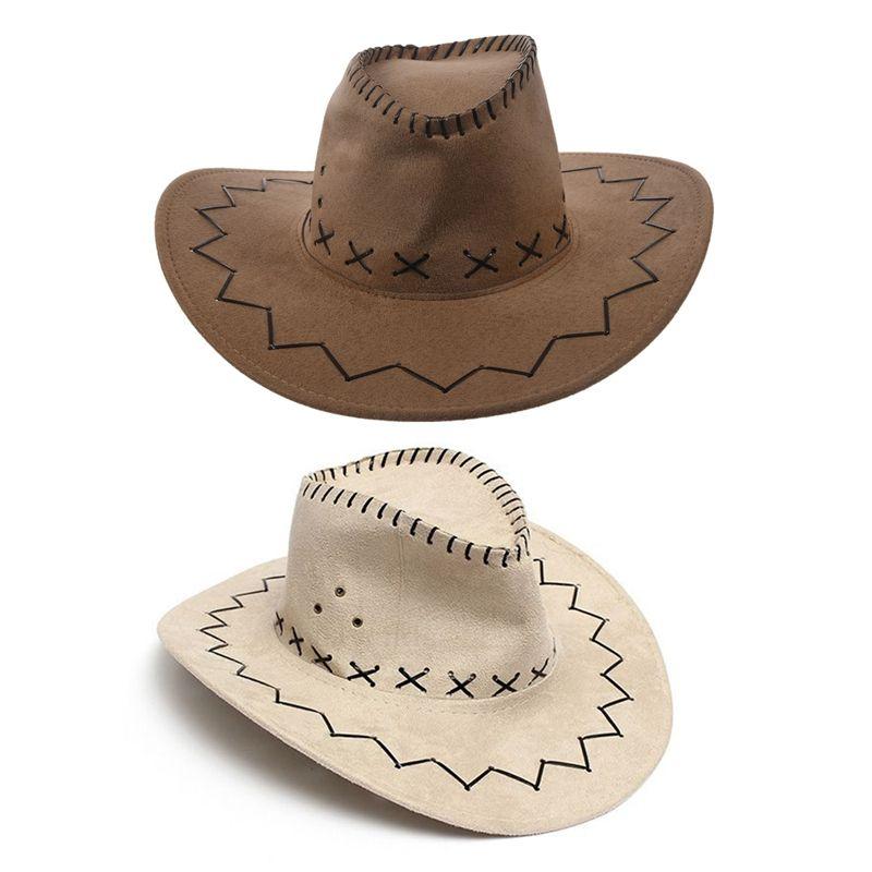 Boy Girls Kids Children Cowboy Cowgirl Wide Brim Sun Hat Fancy Dress Accessory