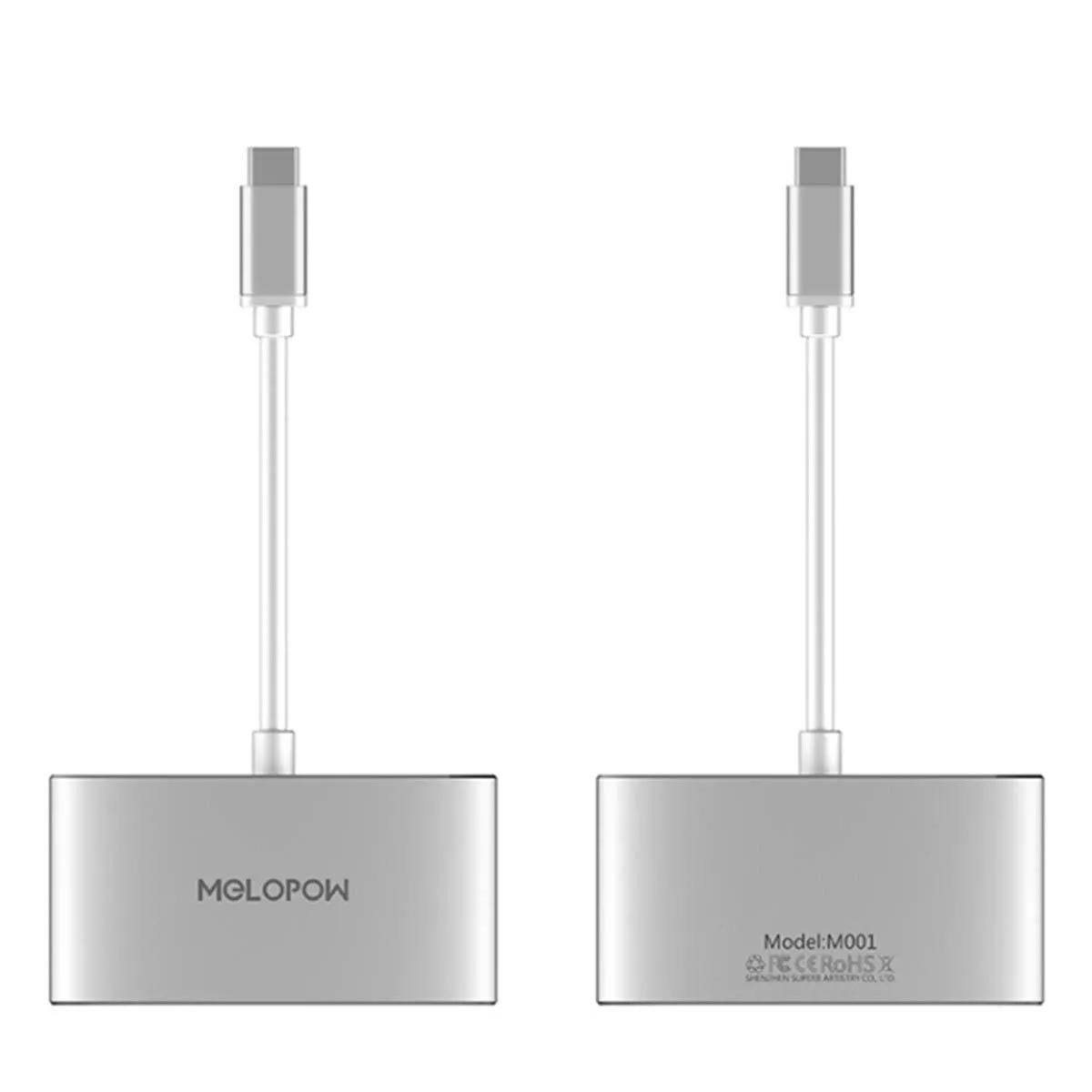 Melopow M001 HD C Tipi Adaptör Dönüştürücü için Nintendo Anahtarı Oyun Konsolu