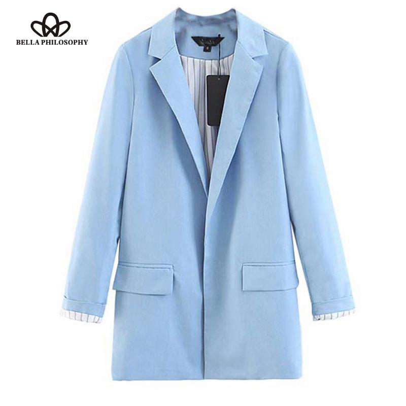 2019 Autumn turn down collar women jacket office lady casual female outwear striped dot print women coat blazer ladies top