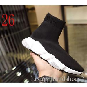 2019 Socks shoes High Quality Unisex Casual Shoes Flat Fashion Socks Woman New Slip-on Elastic Cloth Speed Trainer Runner Man Shoes Tape box