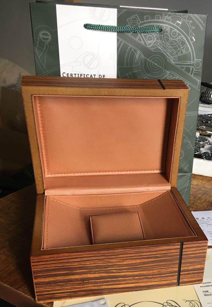 رجل لAP وPPwatch صندوق خشبي الأصل الداخلية الخارجي المرأة الساعات صناديق أوراق هدية حقيبة الرجال المعصم مربع حركة autoamtic