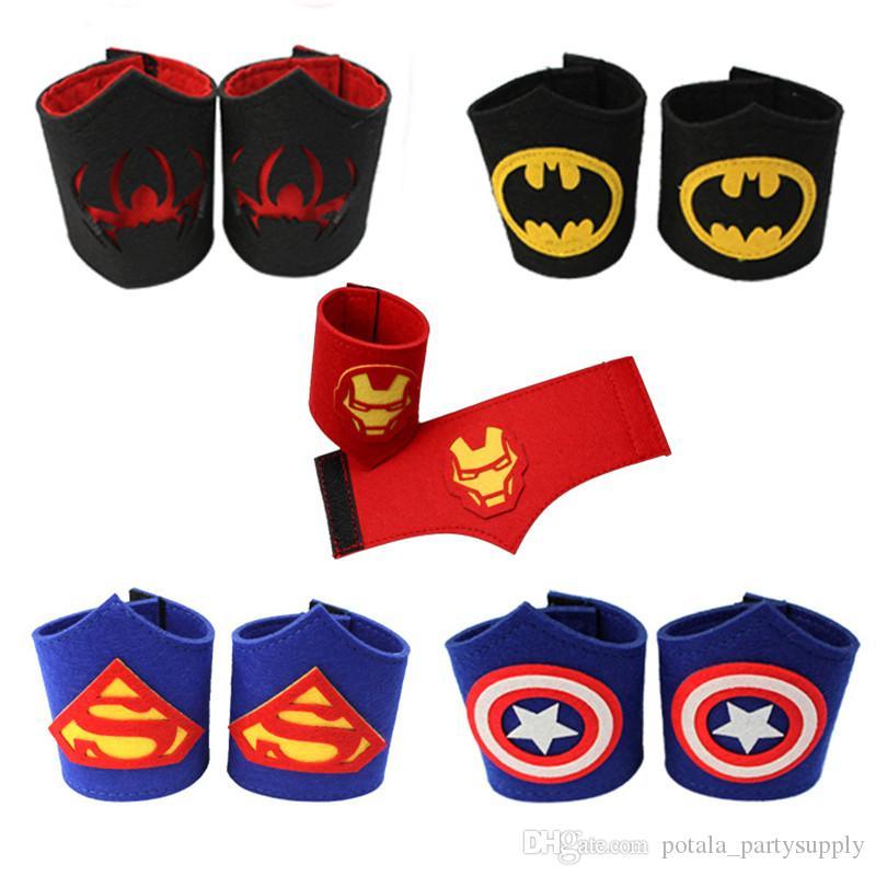 Capitão américa crianças adulto braçadeiras de pulso halloween sentiu pulseira super-herói pulseira spiderman ironman piscando crianças cosplay fontes do partido