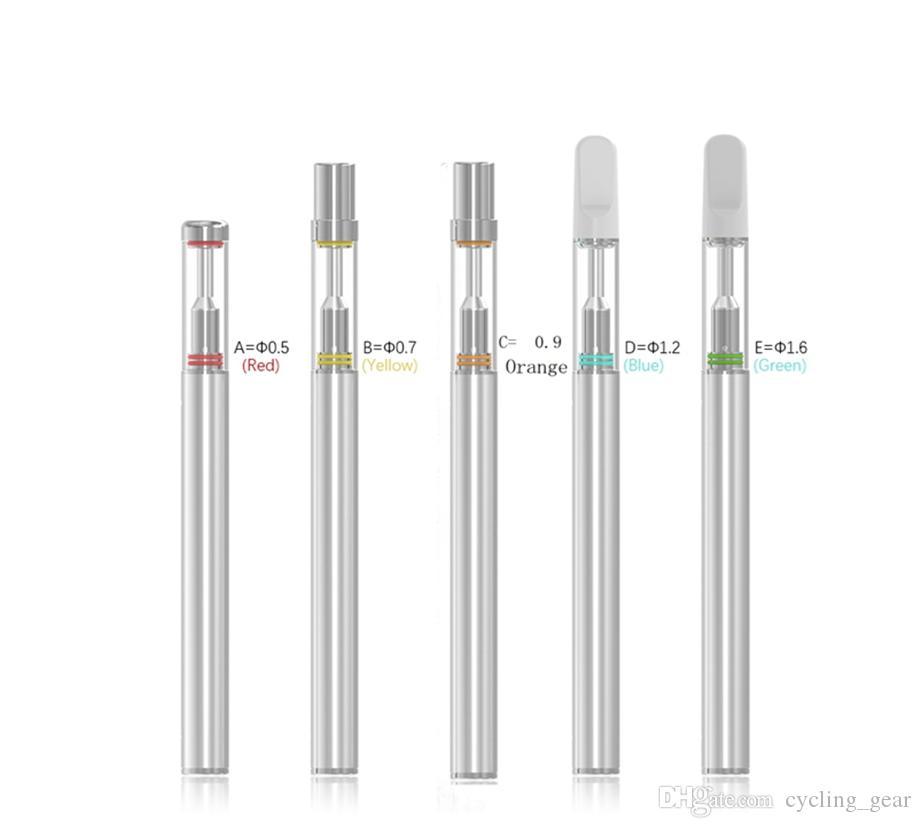 Disposable Empty Vape Pens D1S BUD Oil Vaporizer Pen 0.5ML Atomizer 310mAh E Cig Battery Ceramic Coil E Cigarettes Vape Kits