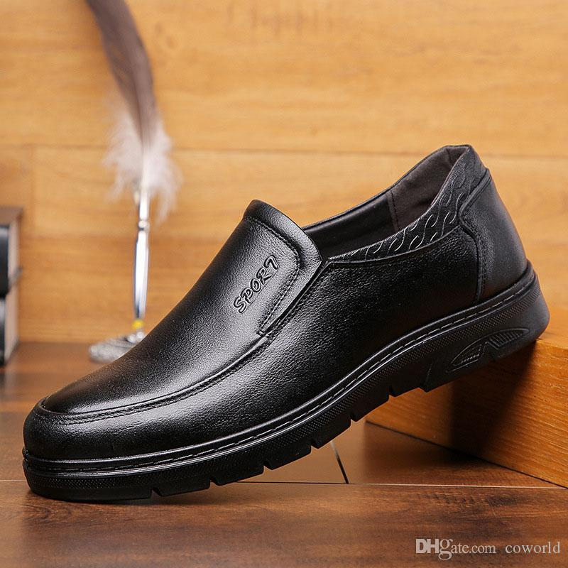 New Genuine Cow Leather Men Formal