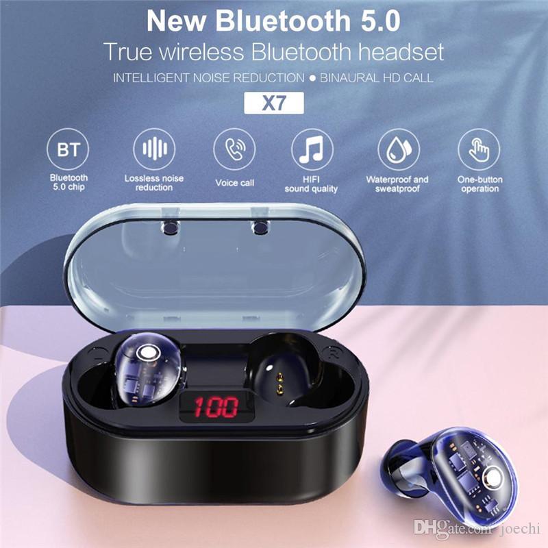 Tws 5 0 Earbuds X7 Bluetooth Earphones True Wireless Headphones Touch Control Ipx6 Waterproof Mini Headset 6d Sport Hifi Stereo Headset Earphones Bluetooth Headset From Joechi 44 98 Dhgate Com