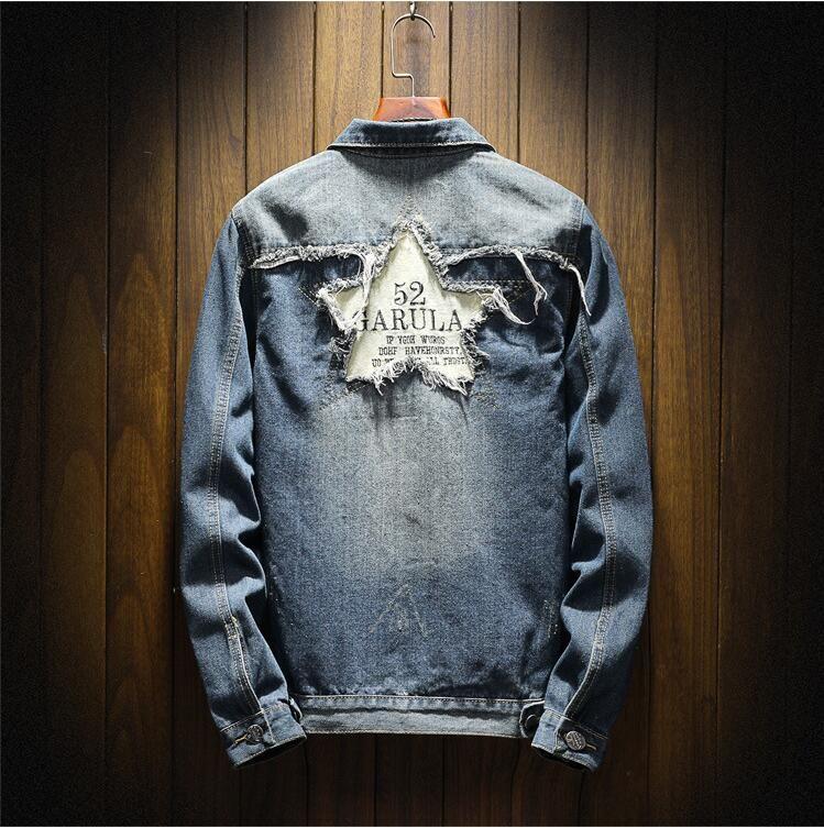 Designer men denim jackets jacket Luxury embroidered motorcycle clothing boy girl youth hip-hop street clothing hole decoration teens #68
