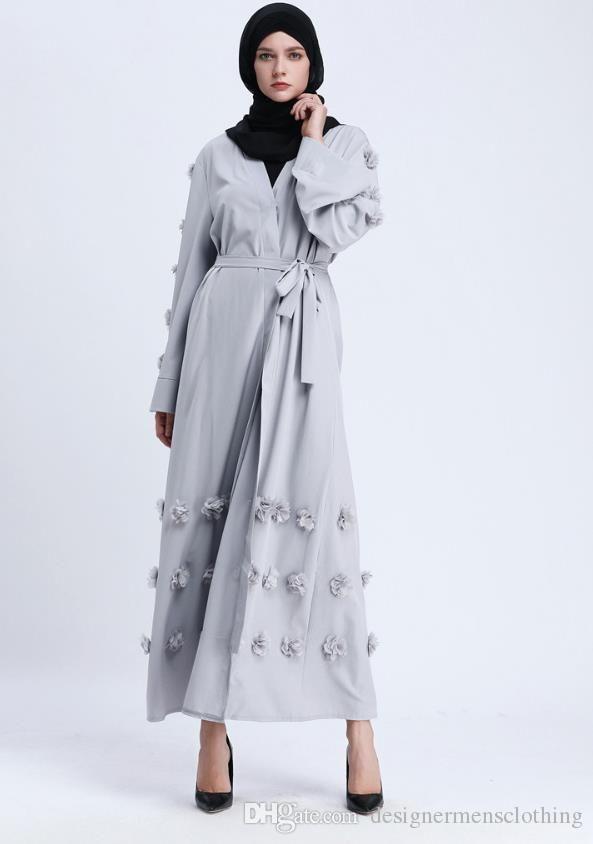 Ethnic Clothing Women Arabian Long Robe Dresses Floral Middle East Formal Dress
