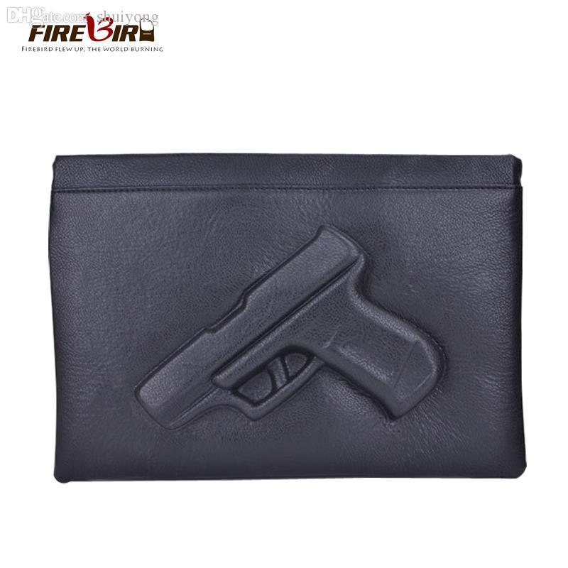 Wholesale-2015 Punk Women handbags 3D Pattern Gun Bag Lady Day Clutches Designer Shoulder Bags school Cross body fashion messager bagH335