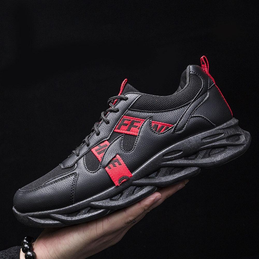 Erkekler Düz Yeni Yumuşak Ayakkabı Boy Şok emilim Aşınma dayanıklı Gençlik Ayakkabı Mesh Konfor Klasik Erkek Ayakkabıları Ayakkabı
