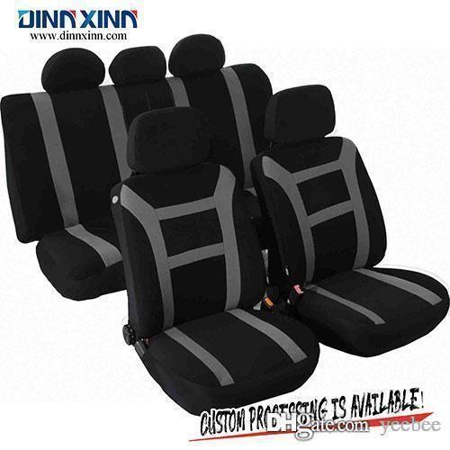 Conjunto completo de asiento de coche cubre ajuste Peugeot 207 Negro//Plata Cubierta de asiento