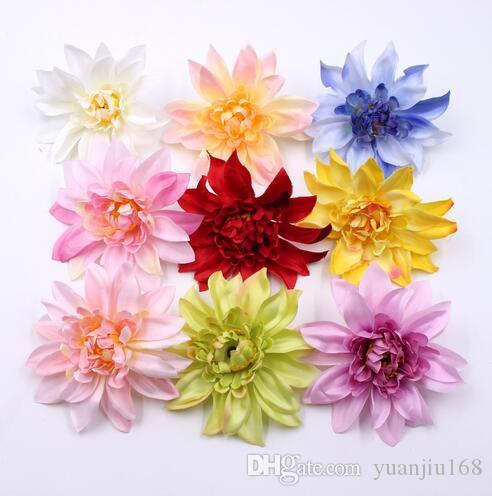 10cm Silk Peony Handmade Artificial Flowers For Wedding Home Decoration DIY Floral Craft Scrapbooking Dahlia Flowers GB745