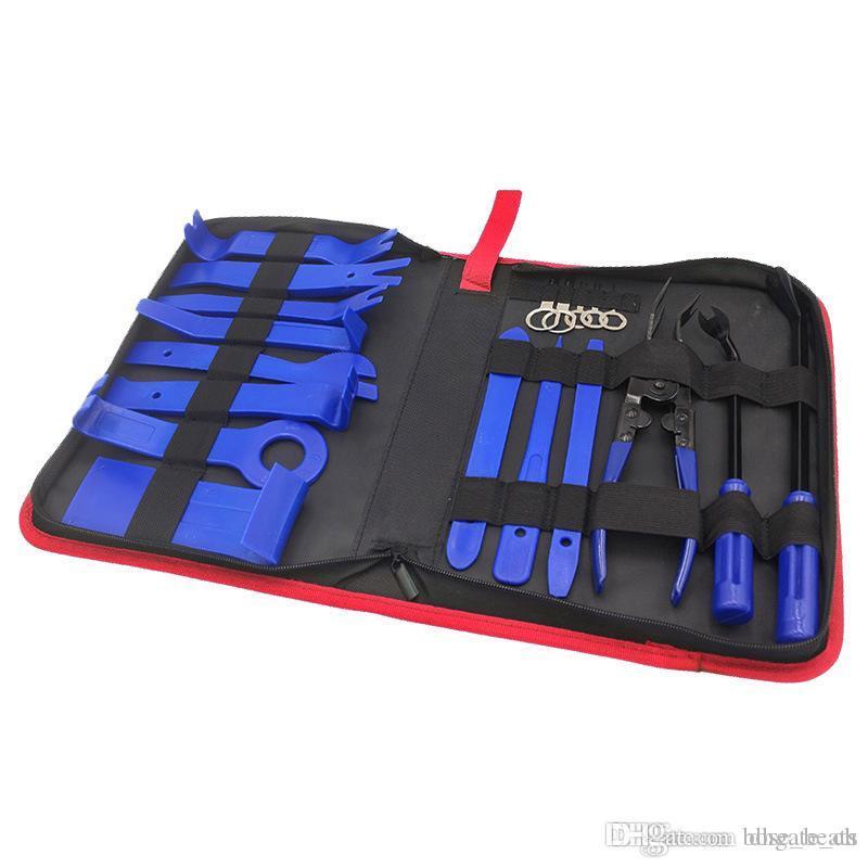 보관 가방 2019 새로운 자동차 트림 제거 도구 키트 자동 패널 대시 오디오 라디오 제거 설치 수리 올립니다 도구 키트 패스너 제거