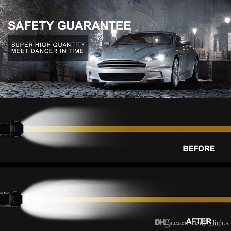faros de coches mini LED bombilla de la lámpara LED H1 H7 H8 faros 9005 9006 6000k vehículo luz 9-36V 36W 6000LM SY0506