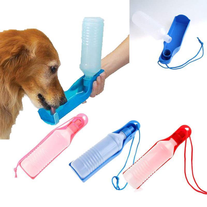 Pet Dog Drinking Bottles Travel Potable Pet Dog Cat Water Feeding Drink Bottle Dispenser Water Bottle 250ml