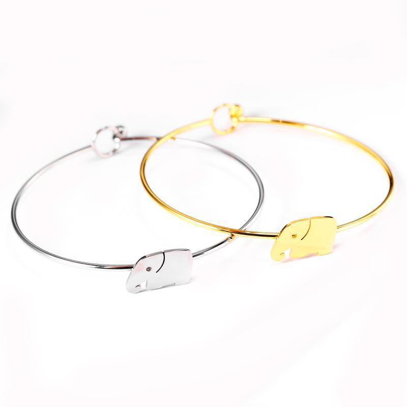 bracelete de aço inoxidável para mulheres bracelete de ouro acessórios rapariga amuleto de Moda Simples Jóias grossistas