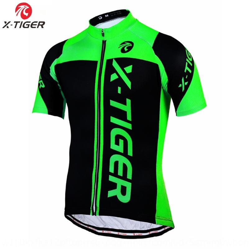 x-Tiger kurzärmeliges Fahrrad oben schnelltrocknend schweißableitenden Radfahren Fahrrad QQIaw Radfahren Anzug oben Sommer Männern