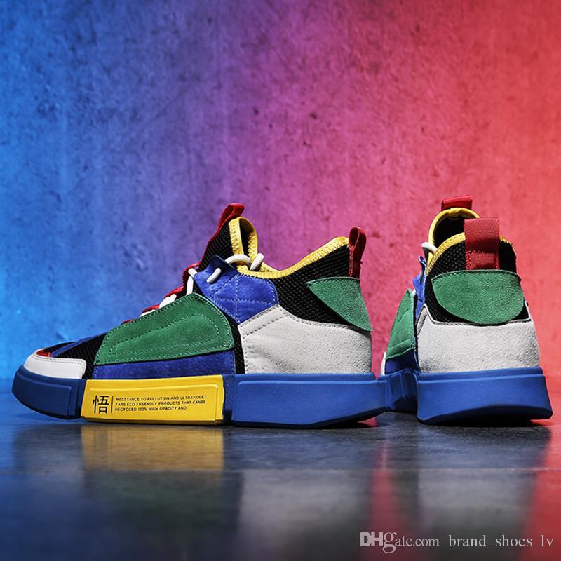 Size60 2019 Chegada Nova Moda Das Mulheres Dos Homens Sapatos Casuais Sapatilhas Sapatos de Alta Qualidade Genuine Abelha De Couro Bordado mens sapatos