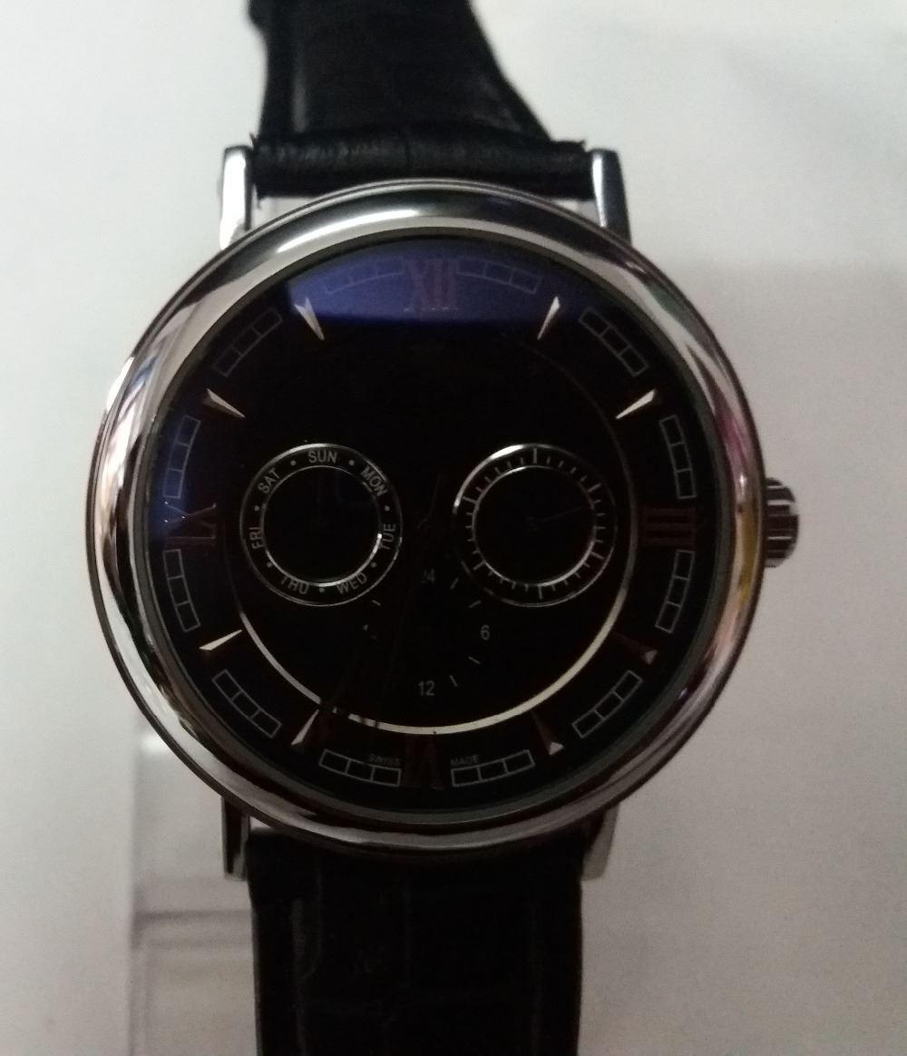2017 fashion mechanical watch Men sport Military Watches Leather Strap army wristwatch clock Calendar white
