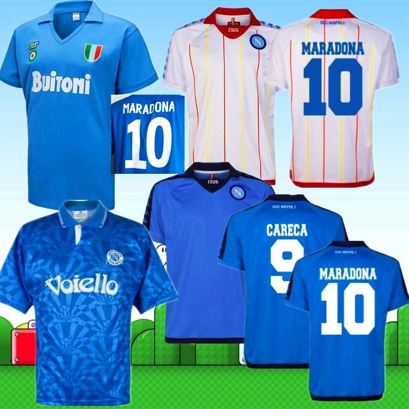 2020 Retro Napoli maglie 1991 1987 1982 1988 Napoli classica maglia da calcio maglia da calcio MERTENS Alemao CARECA MARADONA Calcio MAGICA top
