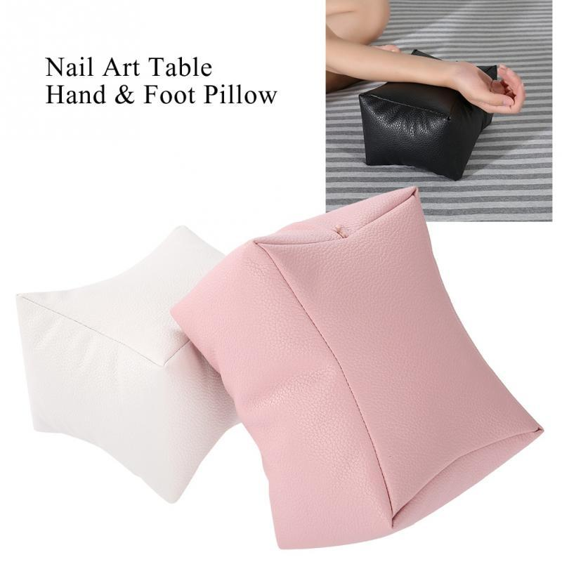 Pro Nail Art Table Hand Pillow PU Leather Arm Rest Cushion Salon Manicure Tool Hand Rests Nail Care Pillow for hand foot rest