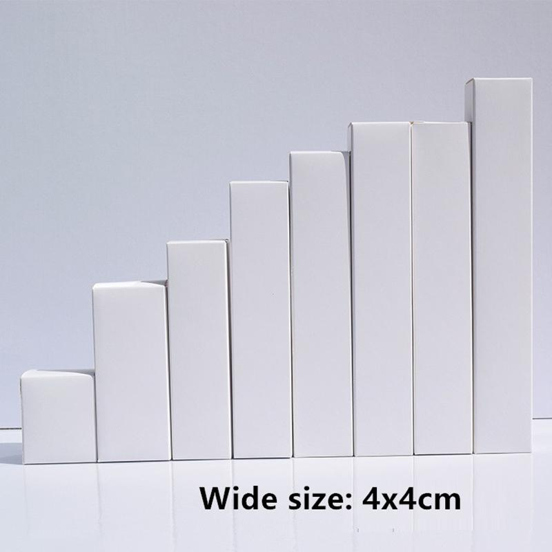 - Livre blanc 50pcs blanc boîte pour tubes Svelte Emballage cadeau Boîtes Craft papier kraft