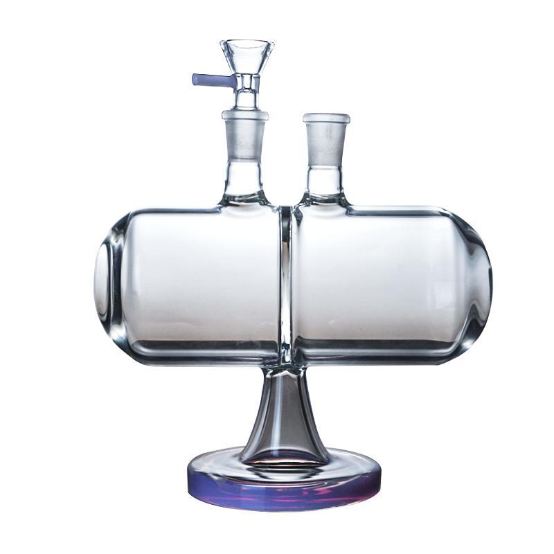 무한대 폭포 유리 봉 캡슐 물 담뱃대 독특한 디자인 거래 중력 14mm 여성 관절 물 봉프 파이프 DAB 오일 장비 그릇